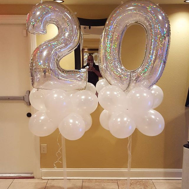 Happy 20th Anniversary Perfections Balloons Balloondecor