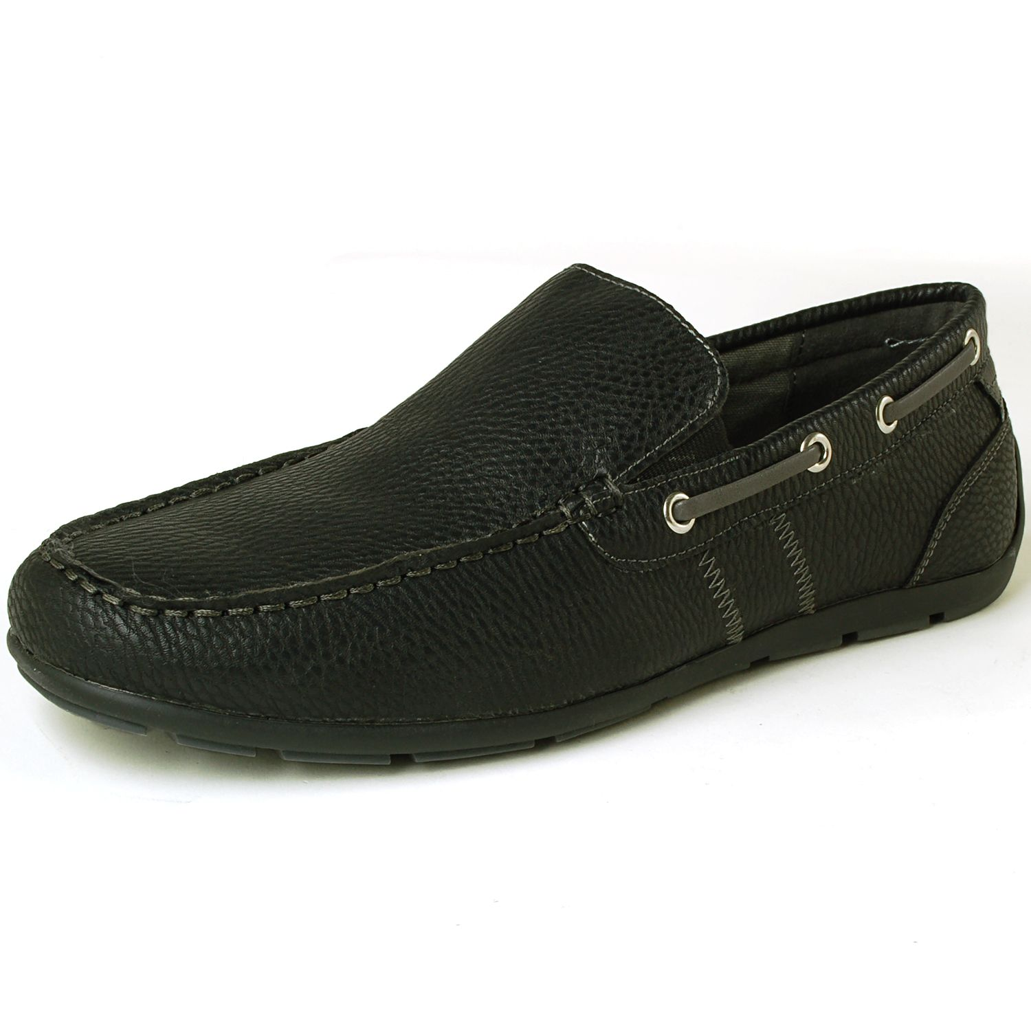 Round Toe Slip-On Synthetic Casual Boat Shoes Loafers For Men