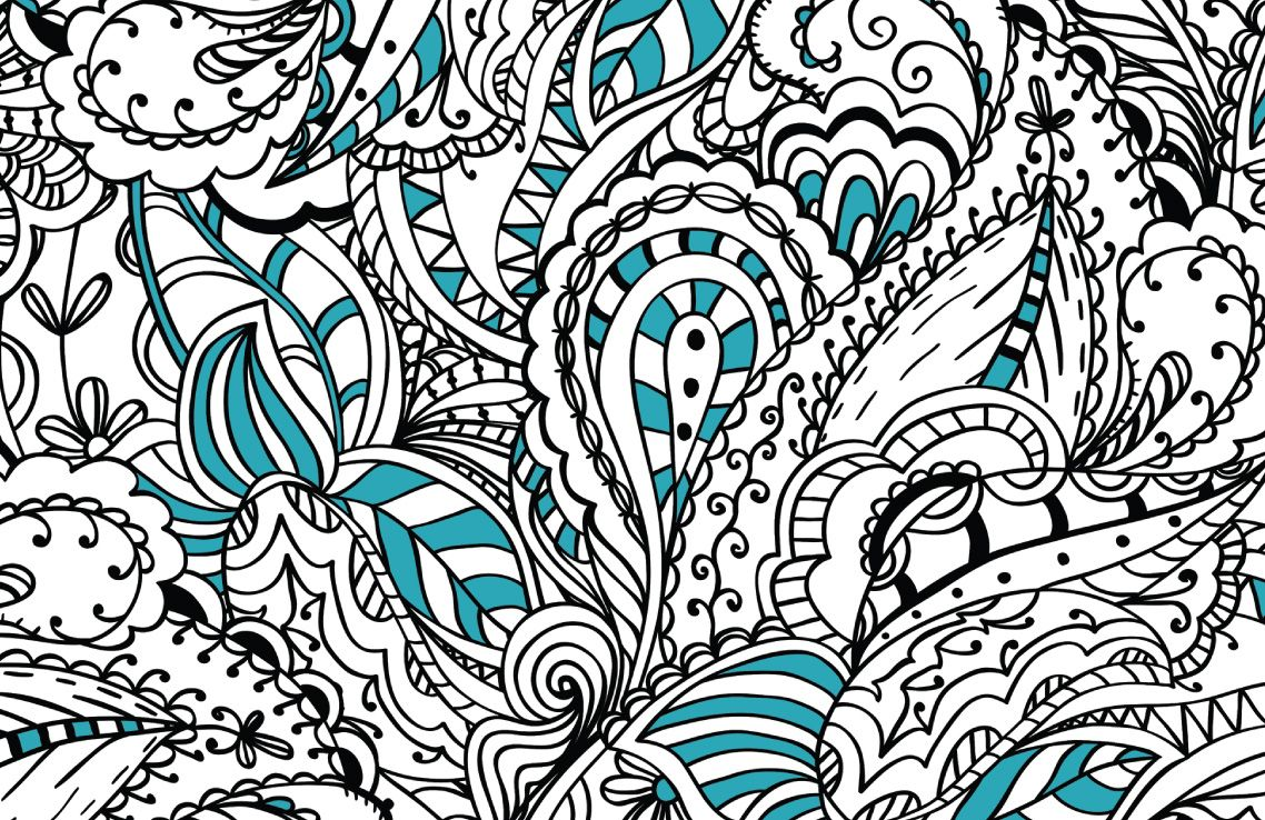 Art Therapy Colouring Book Free Fox Pattern Download