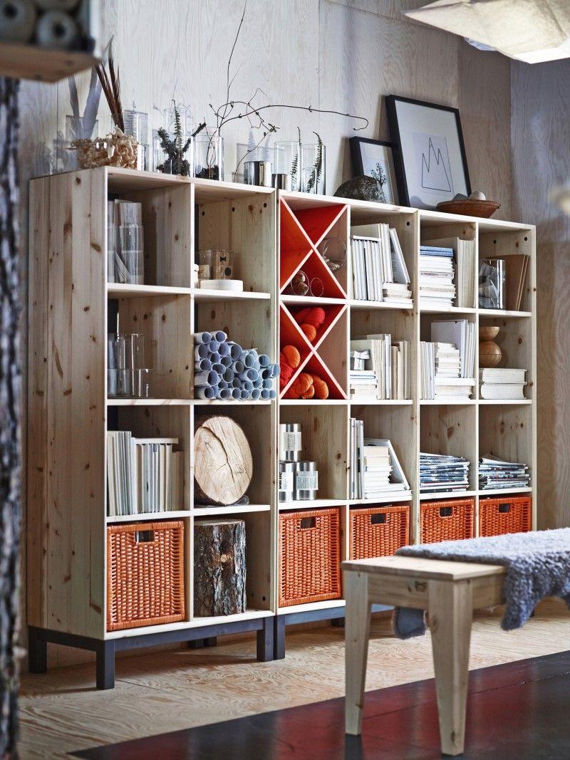 ikea nornäs, mobilier en pin brut à personnaliser   home kodu