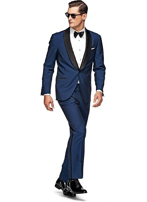 Tuxedo Blue Plain - Complete set | Grooms ideas | Pinterest | Blue ...