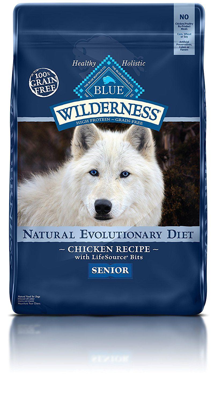 Blue buffalo wilderness high protein dry senior dog food