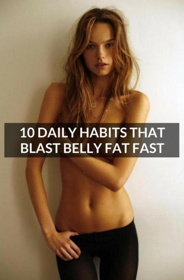 10 daily habits that blast belly fat fast. #fatlossdiet #DermarollingSaggyStomachSkin