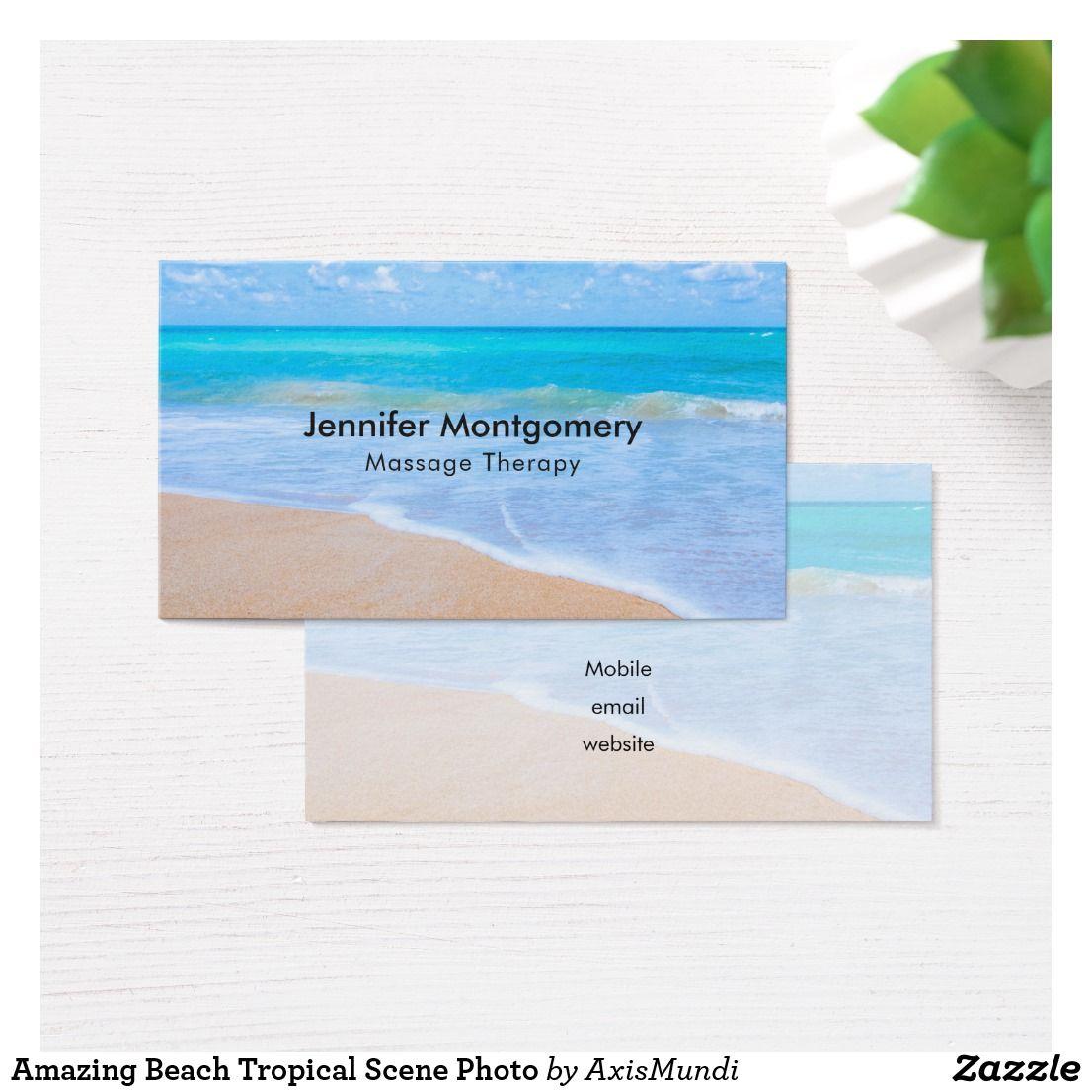 Amazing Beach Tropical Scene Photo Business Card
