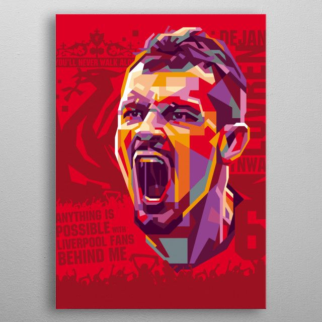 is a Croatian professional footballer who plays as a centre back for Premier League… | Displate thumbnail
