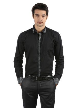 10331ac7fd4 Monteil Munero Men s Formal Shirt - Black.