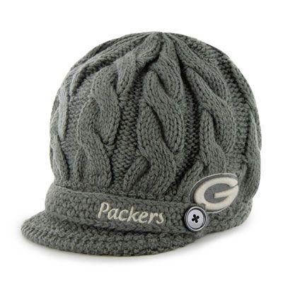 Green Bay Packers Women S 47 Brand Skybox Soft Visor Knit Hat Green Bay Packers Clothing Green Bay Packers Merchandise Green Bay Packers