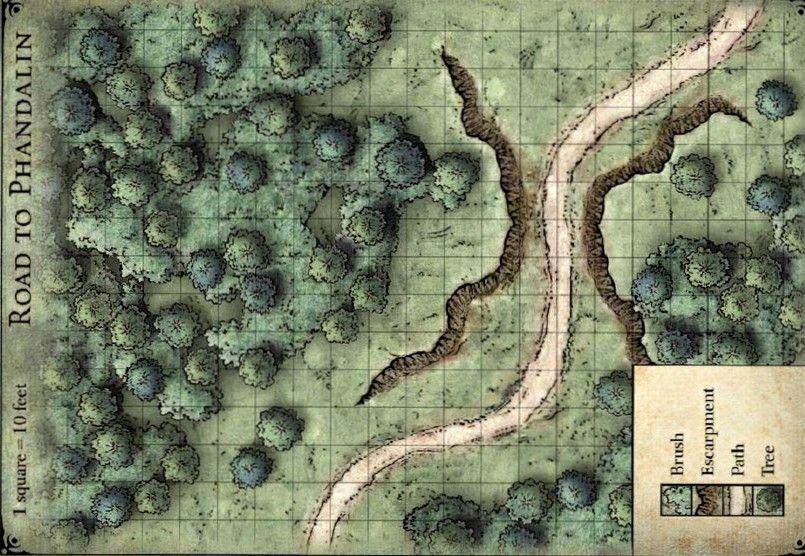 Road To Phandalin Map