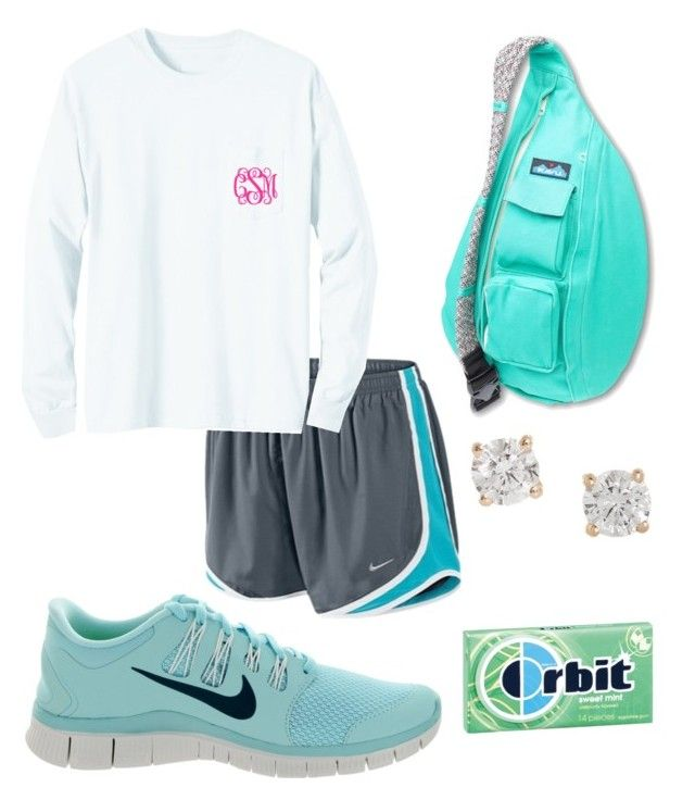 """Mint"" by taylorbenson ❤ liked on Polyvore featuring Kavu, NIKE and Anita Ko"