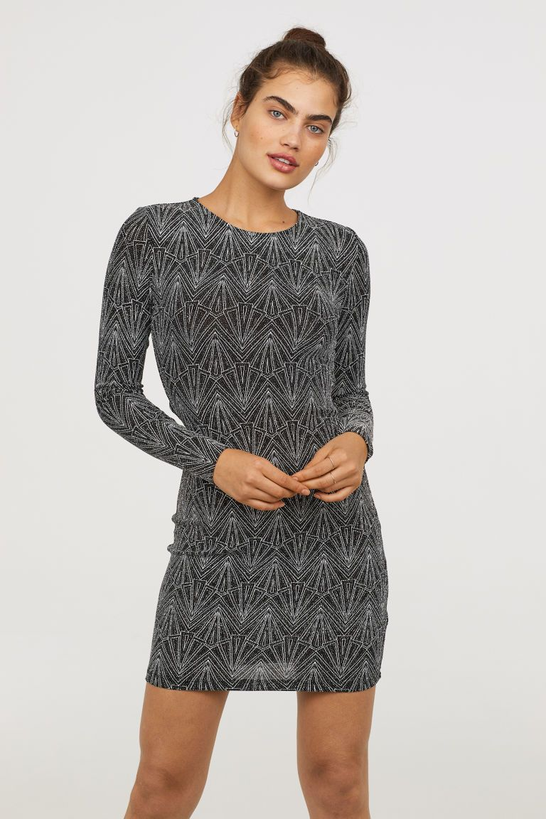 Hedendaags Glitterende jurk | Jurk zwart, Jurken, Elegante jurken NJ-28
