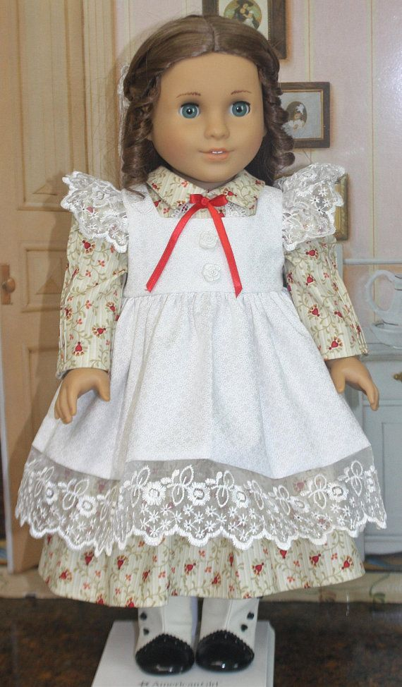 American Girl Style Pinafore Dress in Red and Cream | Eye candy ...