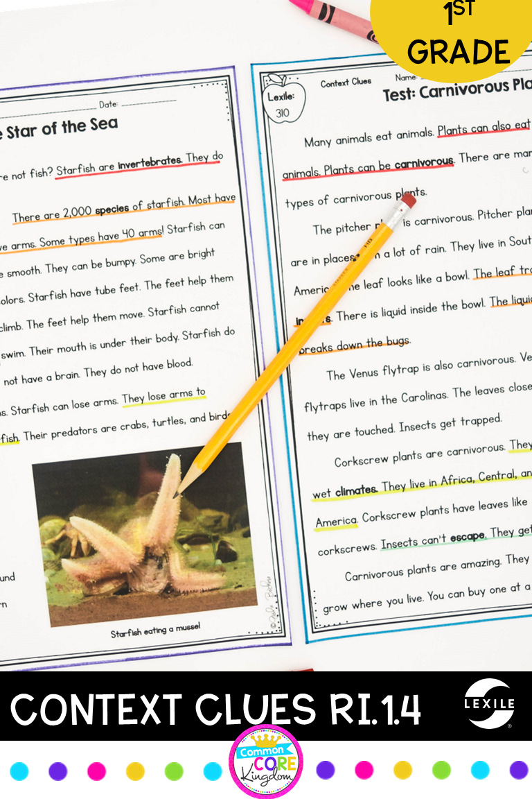 Context Clues In Nonfiction Text 1st Grade Ri 1 4 Nonfiction Texts Reading Comprehension Passages Context Clues [ 1152 x 768 Pixel ]