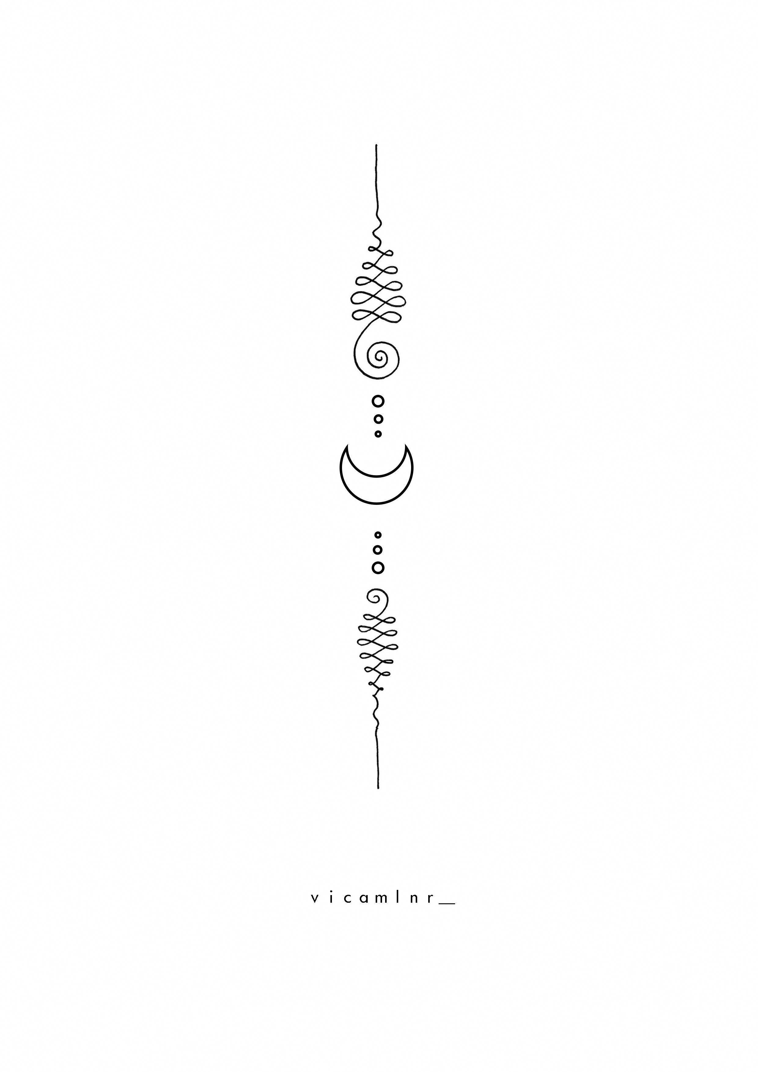 Unalome Moon Spiritual Sacred Geometry Tattoo Design Geometrytattoos Sacred Geometry Tattoo Inspirational Tattoos
