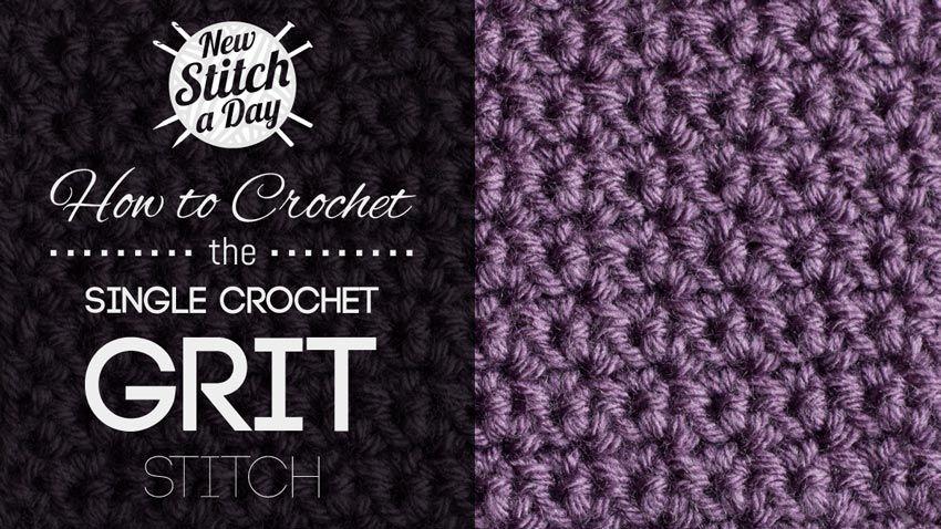 Crochet tutorial how to crochet the single crochet grit for Simple single