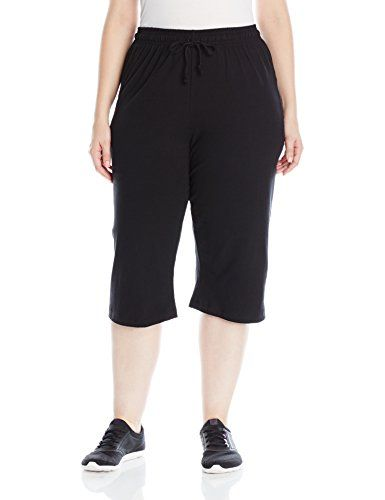 032a285a8ba4 Champion Womens Plus Size Jersey Capri Black 4X   More info could be found  at the image url.