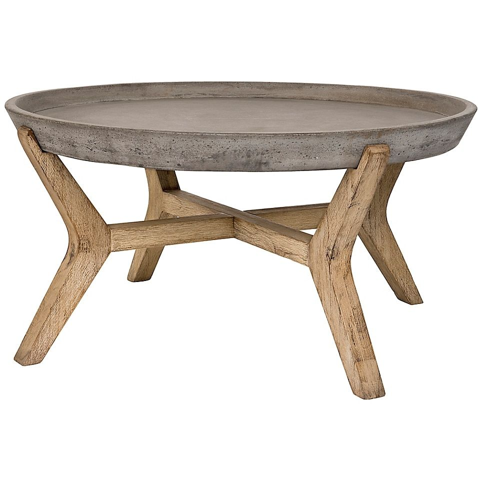 Safavieh Wynn 33 4 Inch Round All Weather Coffee Table In Dark Grey Bed Bath Beyond Round Coffee Table Modern Outdoor Coffee Tables Coffee Table [ 956 x 956 Pixel ]