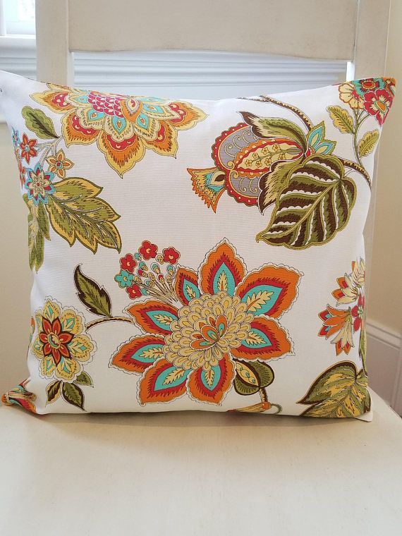 Yellow Pillow Orange Pillow Green Pillow Floral Pillow Cover Gorgeous Joann Fabrics Pillow Covers