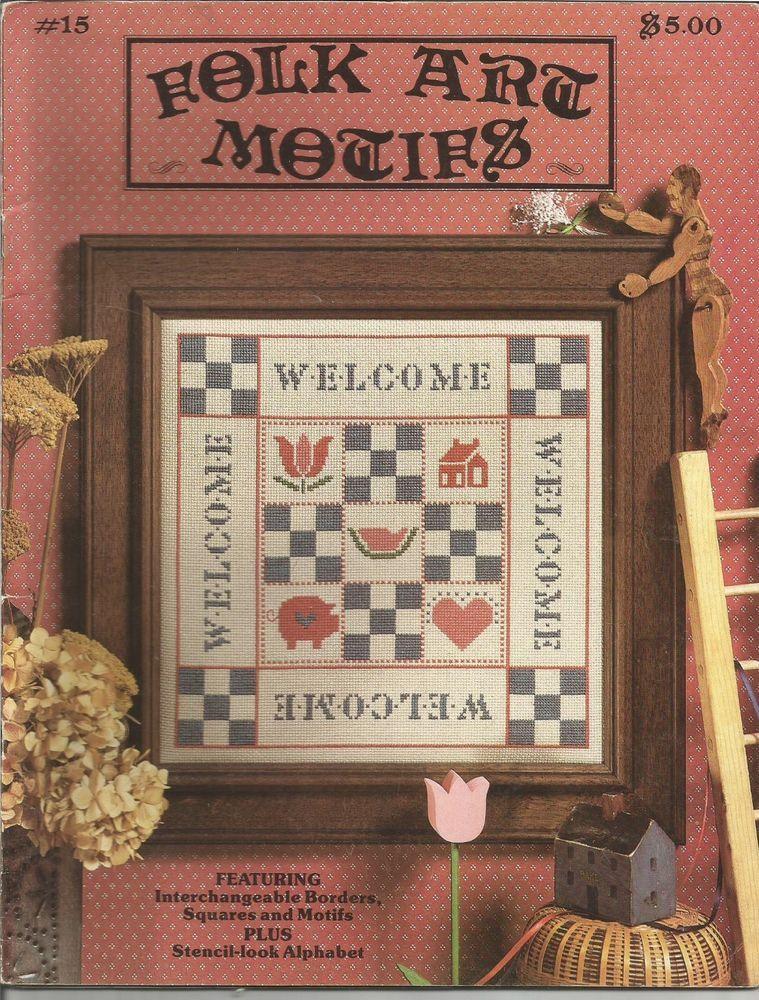 Cross Stitch Pattern - Folk Art Motifs Book 15 - The Graph Menagerie #GraphMenagerie