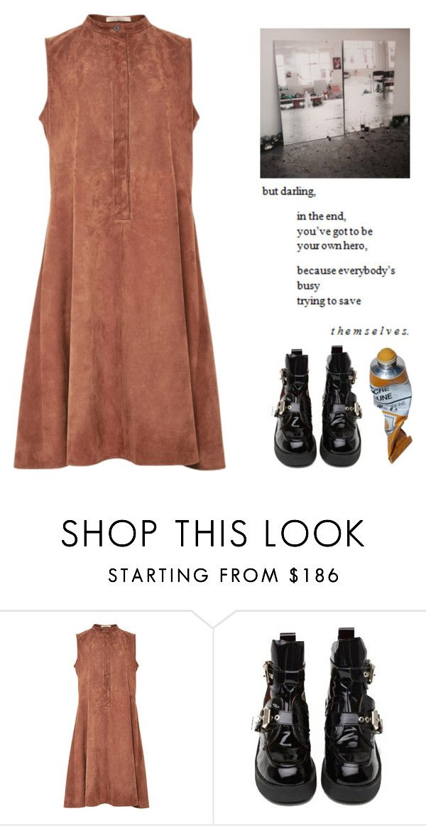 """""""Save yourself"""" by seaweed-of-life ❤ liked on Polyvore featuring Brock Collection and Jeffrey Campbell"""