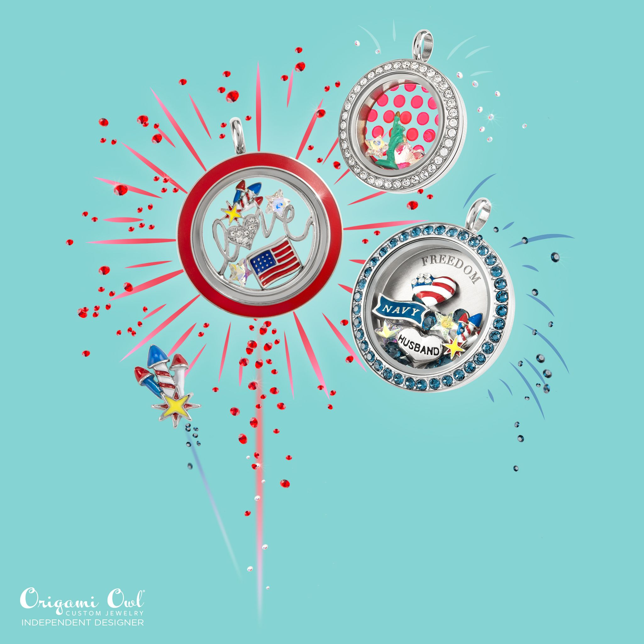 Origami owl summer 2016 collection origami owl julie perez origami owl summer collection 2016 celebrate the of july with this living locket perfect charms for where ever you choose to spend your summer vacation jeuxipadfo Gallery