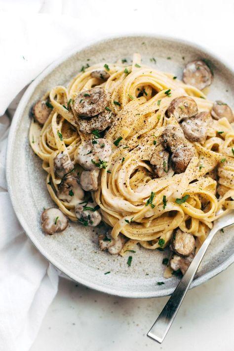 Photo of Date Night Mushroom Fettuccine – Pinch of Yum