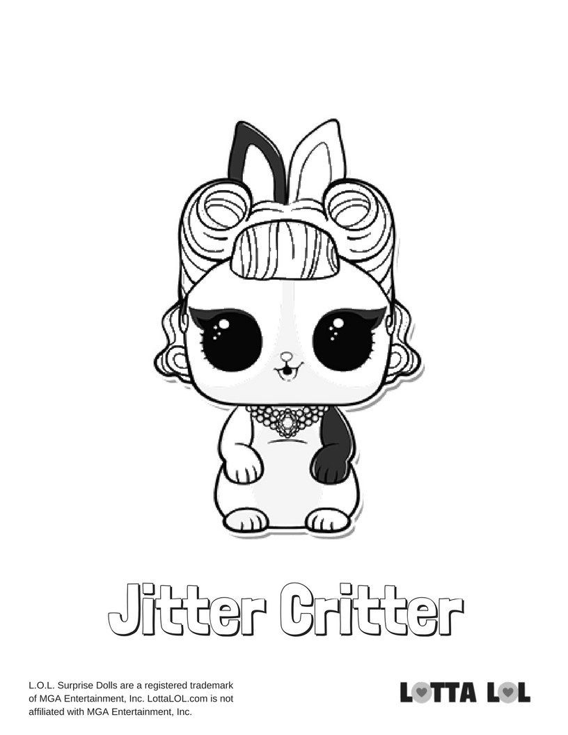 Jitter Critter Coloring Page Lotta Lol Malvorlagen Malvorlagen
