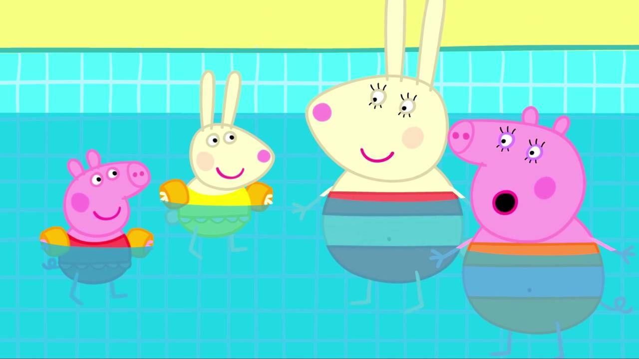 Peppa Pig Swimming Full Episode Peppa Pig And George Go