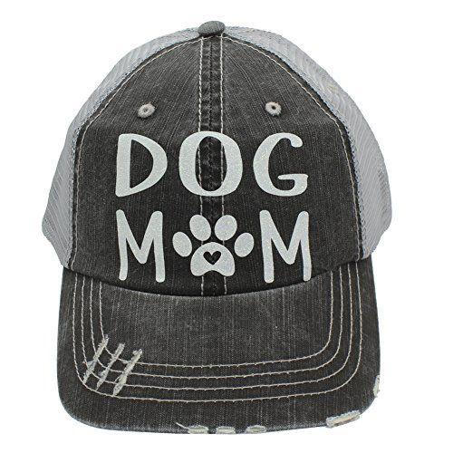e4e87ce8d0836 Sun Nowa Dog Mom Paw Print Heart Women Trucker Cap Hat White Glitter ...
