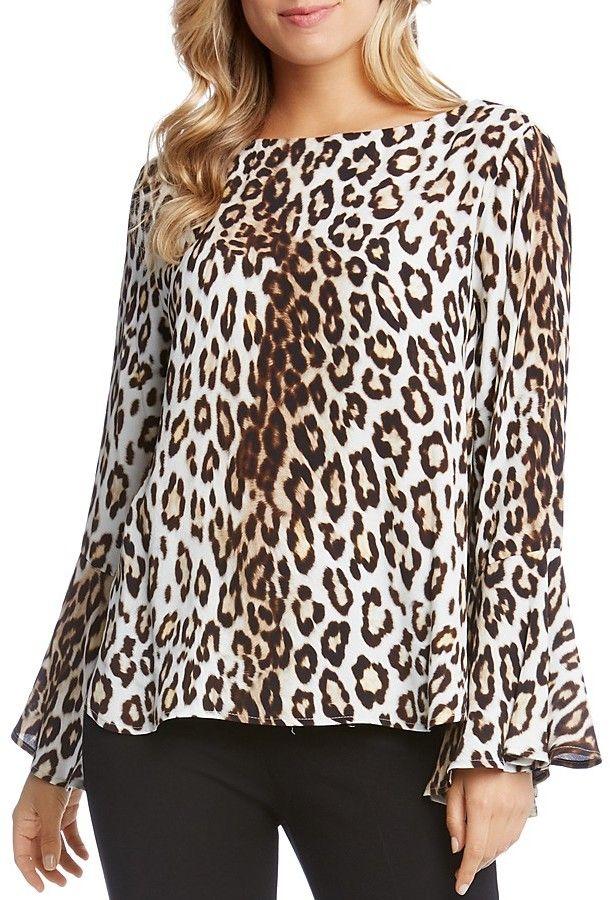 18d73d5c1856 Karen Kane Leopard Print Bell Sleeve Blouse | Style | Bell sleeve ...
