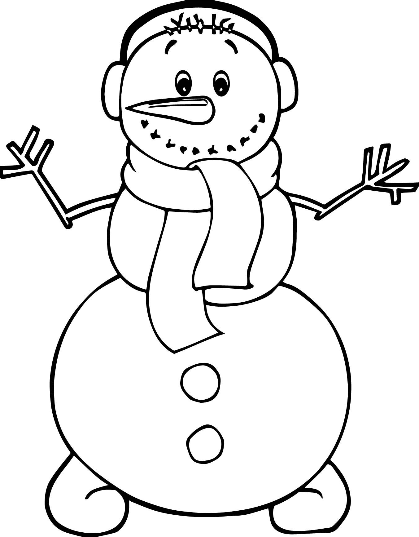cool Winter Cute Snowman Coloring Page | Adorable Snowmen ...