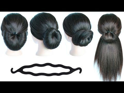 5 quick & simple hairstyles with using bun maker || cute hairstyles || hair style girl ...