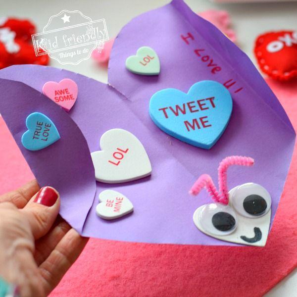 love bug homemade valentine's day card  kid friendly