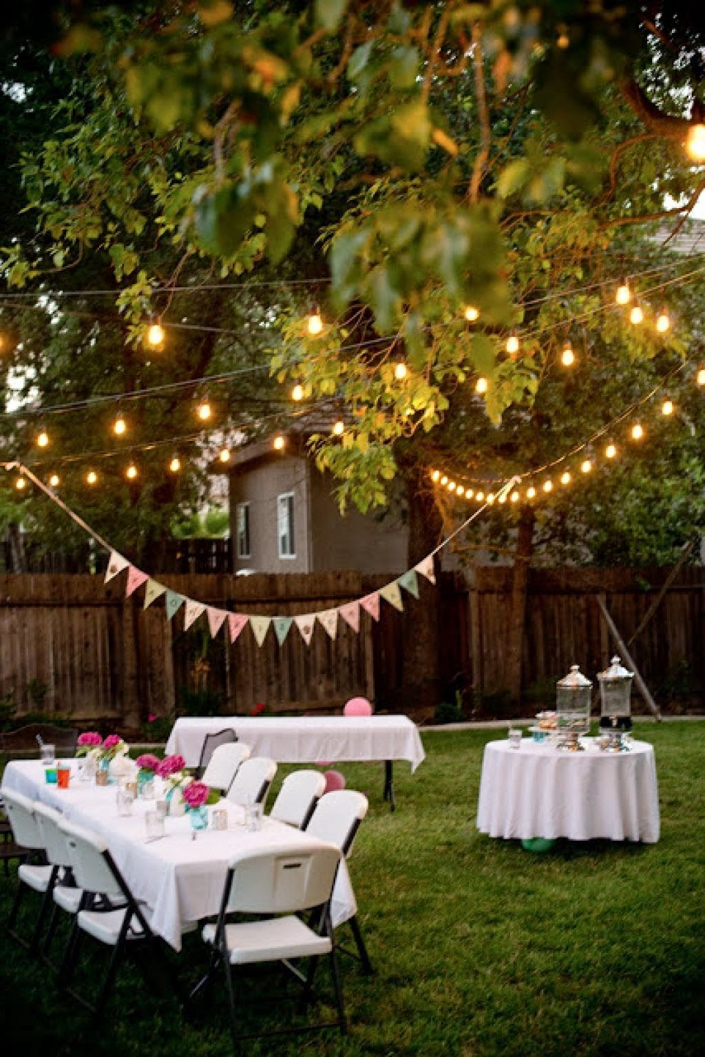 Backyard Party Decorating Gartenparty Deko Party Dekoration Selbst Basteln Partybeleuchtung