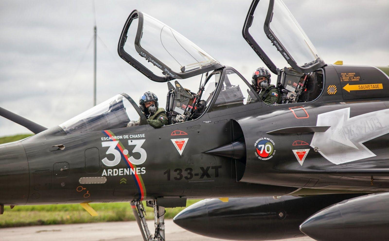 Mirage 2000 D sur la base 133 Nancy-Ochey, lors des 70 ans de l'escadron de chasse 3.3 Ardennes, (le 20 septembre 2013)
