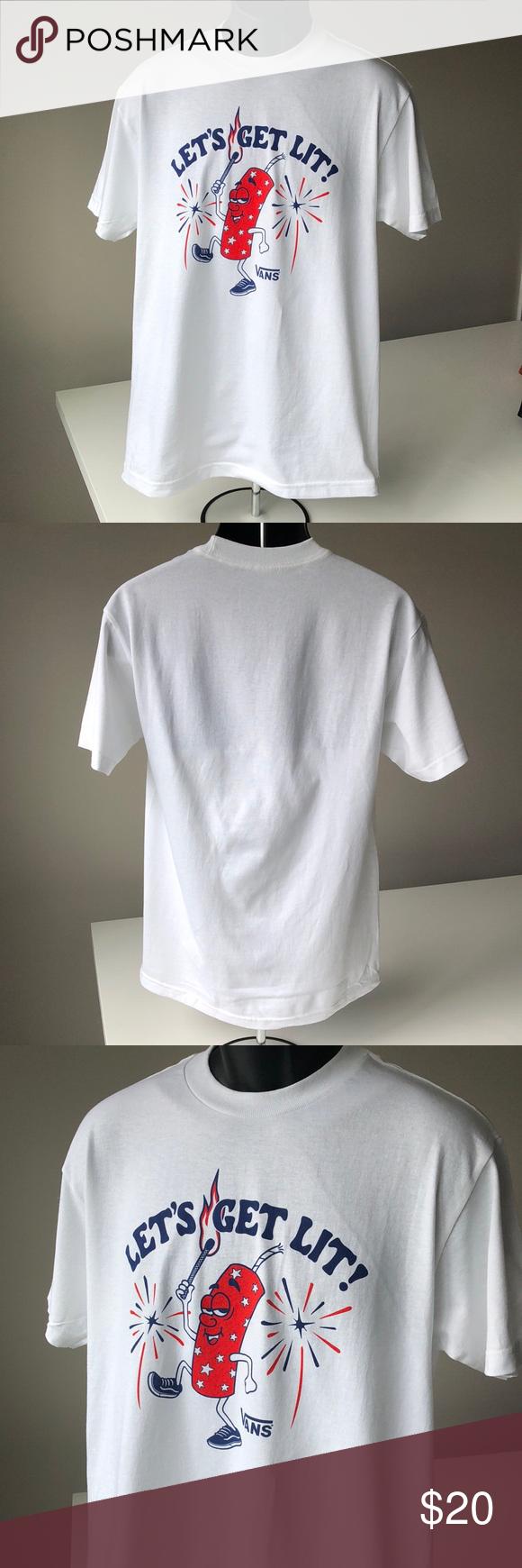 2d53d8128d316a Vans Let s Get Lit T-Shirt Vans Lets Get Lit T-Shirt Size Medium New ...