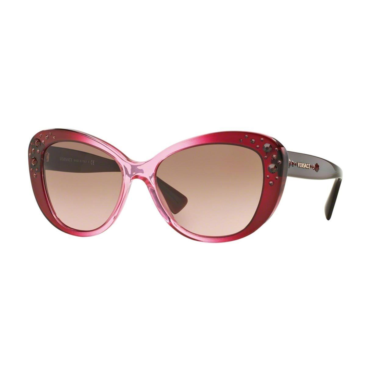 61cf60a73866 Versace Women's VE4309BA Pink Plastic Cat Eye Sunglasses - Versace  Sunglasses rank among the upper ends of trend and luxury. Versace eye wear  feature its ...