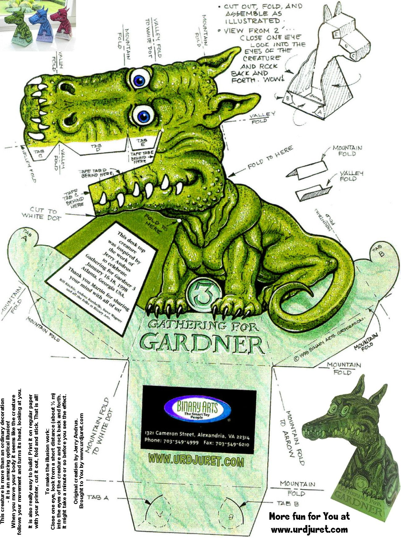 Jerry-Andrus-Original-Dragon-Illusion-Green-Original.jpg (1298 ...