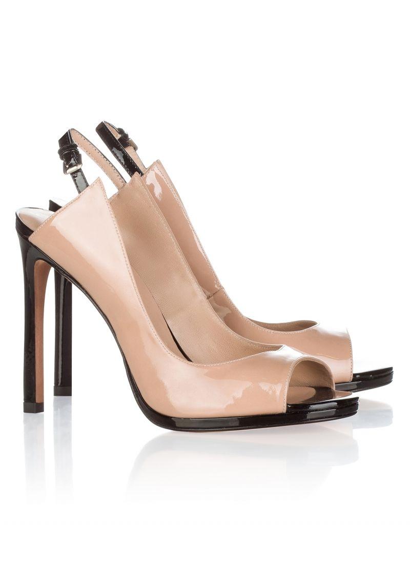 Pura Lopez Peeptoe heels - black a36o9XZYL