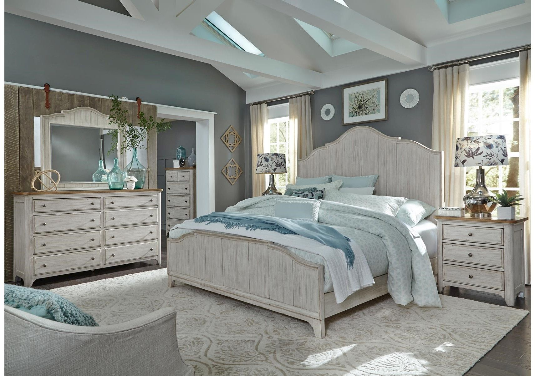 Lacks Farmhouse 4 Pc Queen Bedroom Set Bedroom Furniture Sets