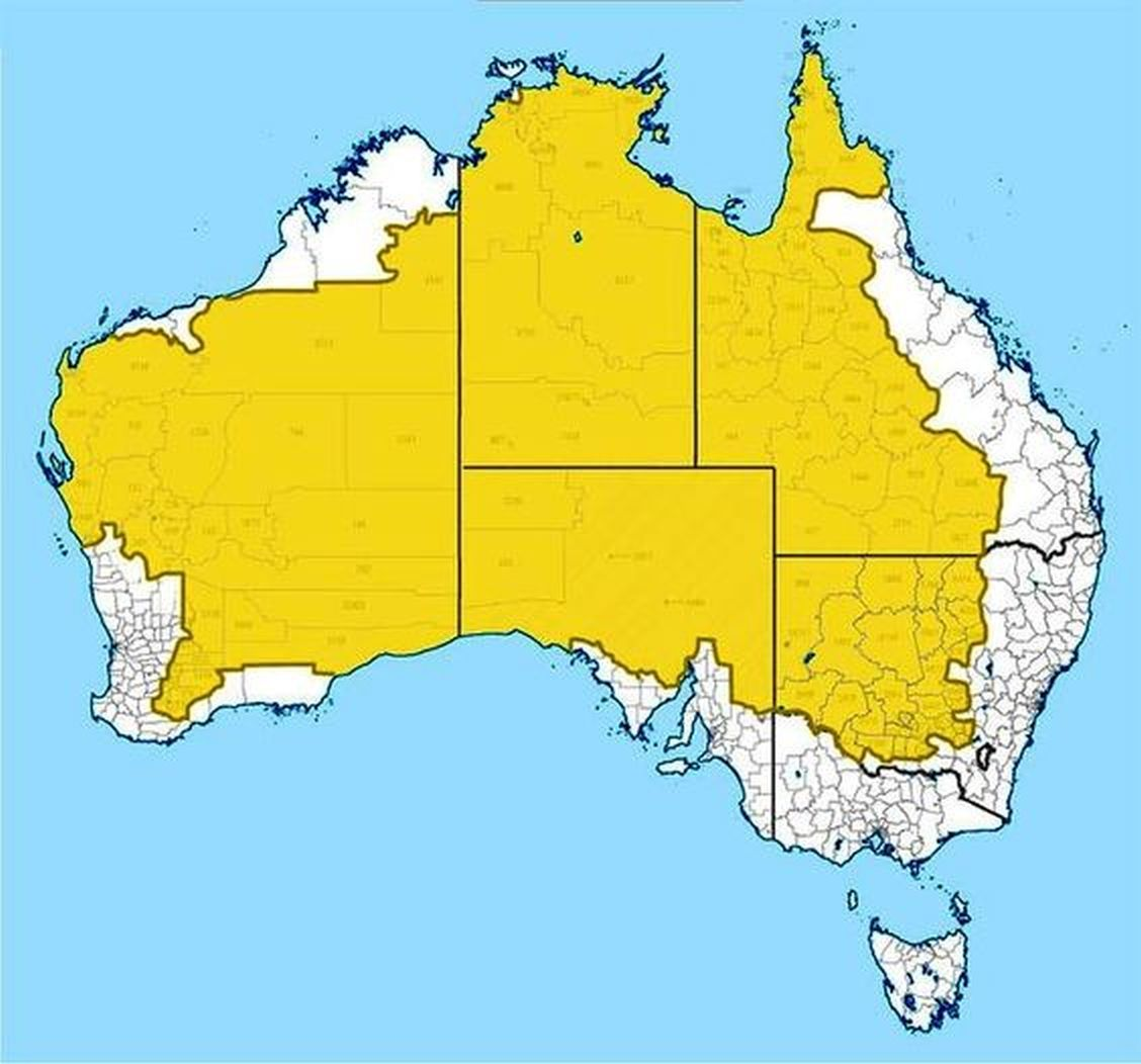 98% Of Australian Population Lives Outside The Yellow Area