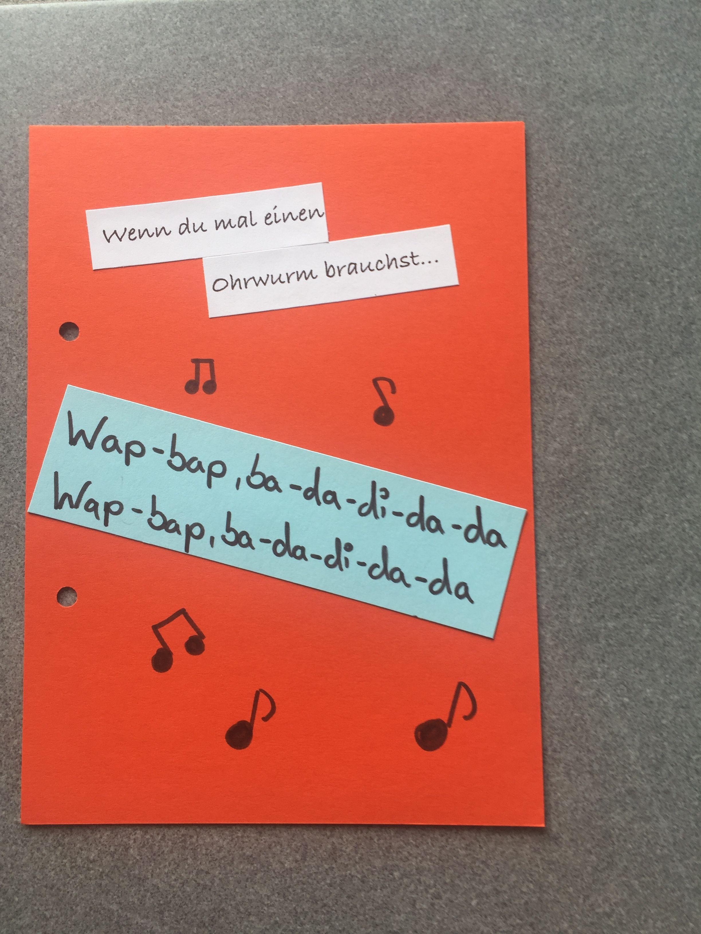 Benötigt Ohrwurm Song Z B How It Is Wap Bap Mein Wenn Buch