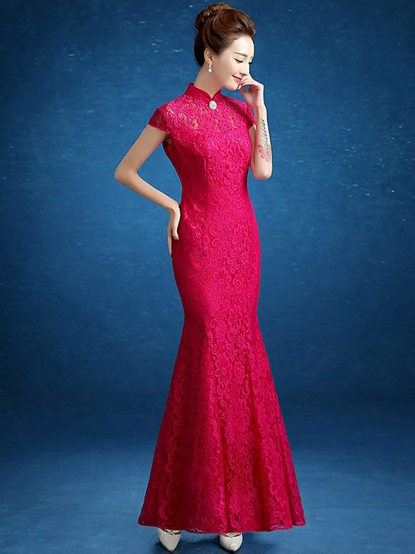 7526164e0 Modern Dream Lace Fishtail Cheongsam / Qipao Wedding Dress | lovely ...
