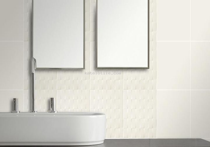 Uniwall Ivory 8x10 Wall Tile With A Unique Woven Deco