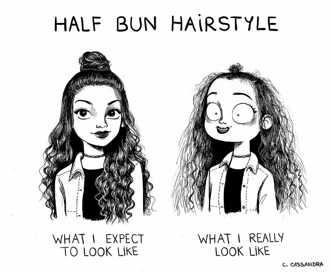 It Looks Worse Because I Have Medium Short Hair Relatable Funny Quotes Funny Memes