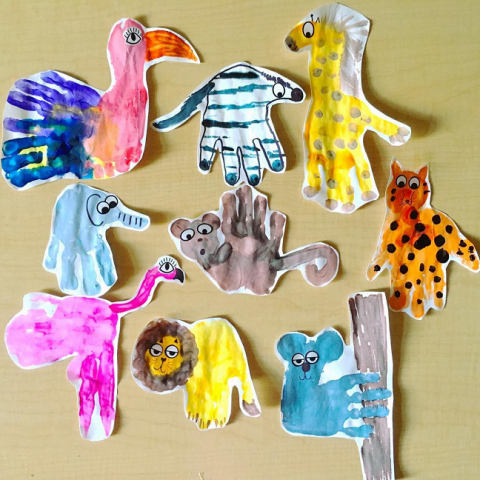 Wild Animal Handprint Crafts For Kids Birthday S Animal Crafts