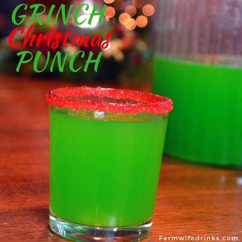 This bright green Grinch punch was a great combination of flavors. A little red sugar on the rim of the glass and this festive Christmas punch was loved by kids and adults alike. #grinchpunchrecipe This bright green Grinch punch was a great combination of flavors. A little red sugar on the rim of the glass and this festive Christmas punch was loved by kids and adults alike. #grinchpunchrecipe