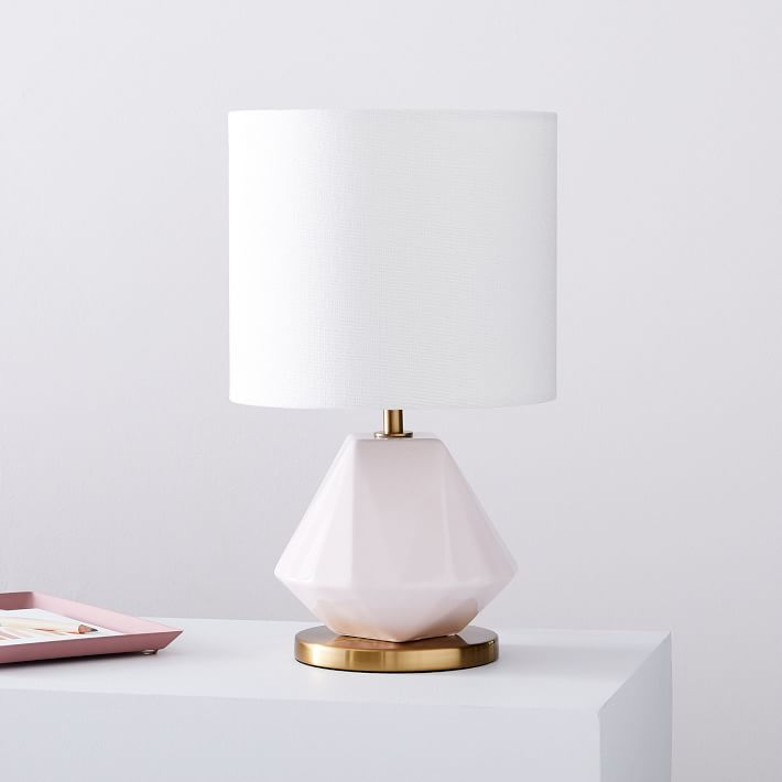 Faceted Porcelain Table Lamp Small West Elm In 2020 Table Lamp Glass Table Lamp Lamp