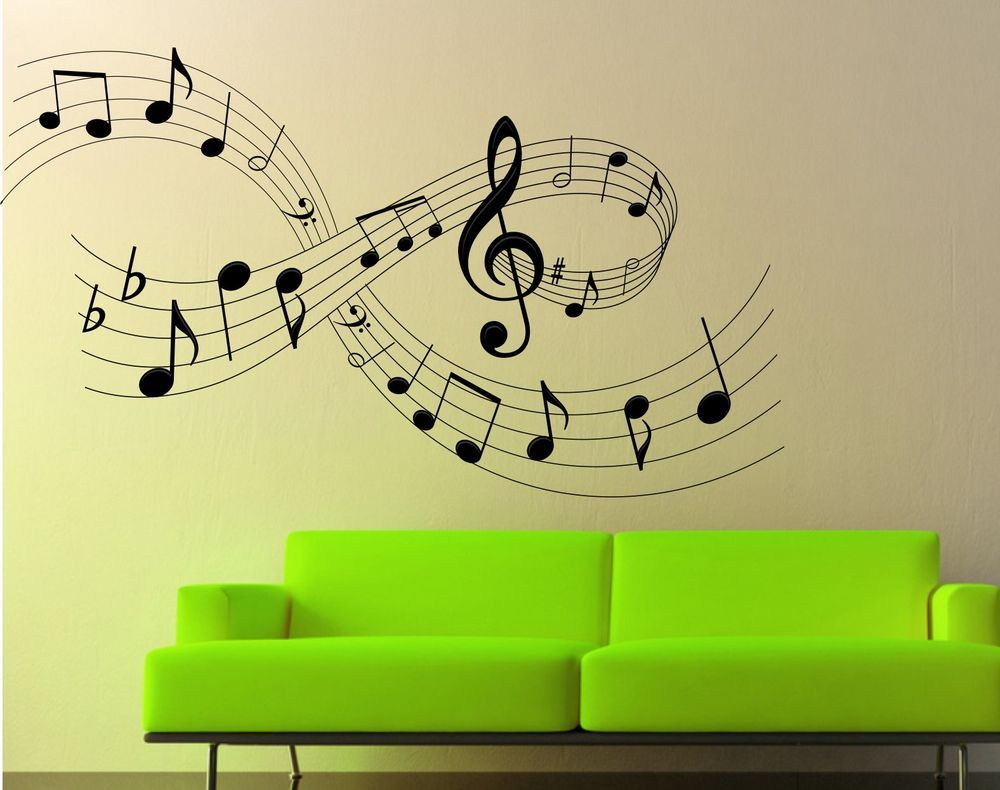 Music Notes Wall Art Sticker, Decal, Graphic | musiek | Pinterest ...