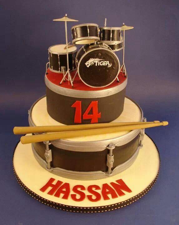 Cake Designs Drum Set : Drum set fondant cake MUSIC Fondant Cake Pinterest ...
