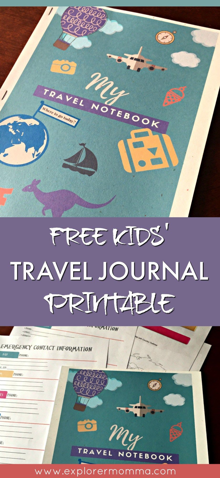 FREE Kids Travel Journal | Kids travel journal, Journal and Vacation